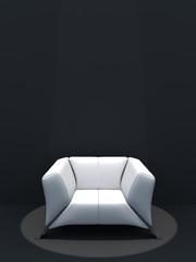 Illuminated white seat