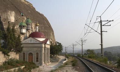 church. railway.