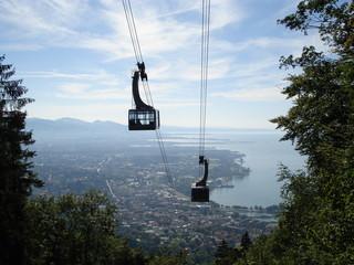 Pfänderbahn mit Blick über Bregenz
