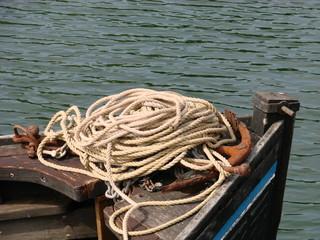 Proue d'un bateau de pêche