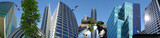 Fototapety Blue business / skyscraper banner