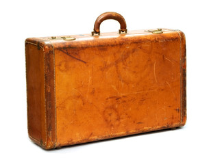 Well-Traveled Vintage Suitcase
