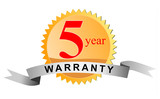5 year warranty seal poster