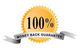 100% money back guarantee poster