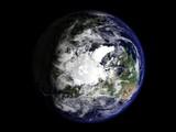 terre vue du ciel pôle nord 2