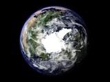 terre vue du ciel pôle nord 3
