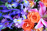 Bouquet of vibrant colors poster