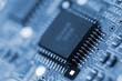 Leinwanddruck Bild - Microcircuit