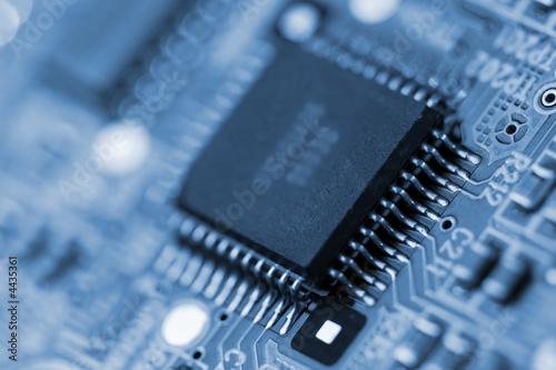 Leinwanddruck Bild Microcircuit