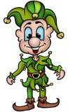 Green smiling punch - cartoon illustration poster