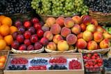 fresh fruits on tuscany market poster
