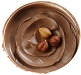 Hazelnuts in nougat butter. poster