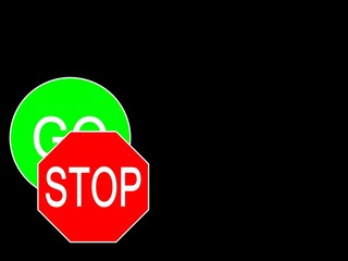 sign stop go