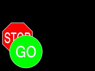 sign go stop
