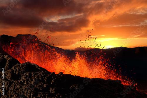 Leinwanddruck Bild éruption volcanique