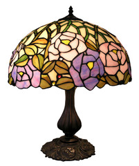 Antique Table Lamp with Clipping Path