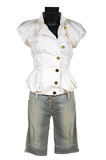 blouse and jeans shorts poster
