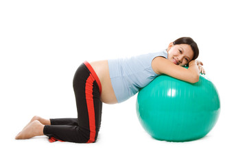 Relaxed pregnant woman