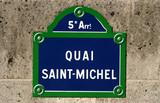 Street name sign, Paris, France poster