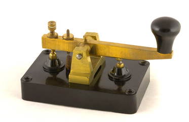 Morse key manufactured by the Clipsal company