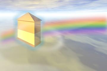 Traumhaus in den Wolken