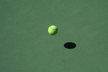 Tennis Court with bouncing ball