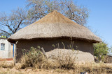 typical hut in south africa poster