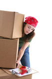 Woman Lifting Boxes poster