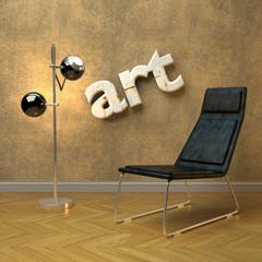 Arty modern interior