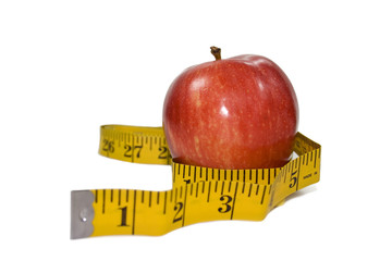 Apple & Measuring Tape