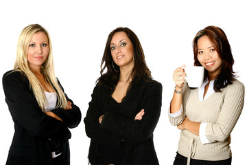 Three female businesswoman from diverse background,