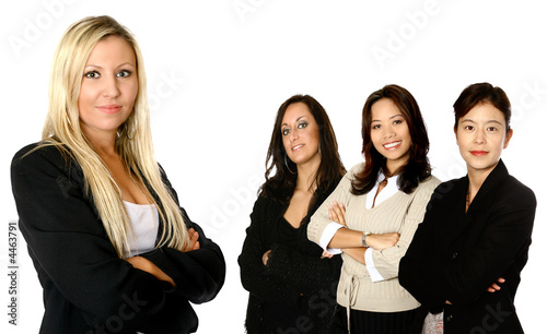Four female businesswoman from diverse background,
