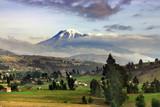 Impressive Volcano peak  poster