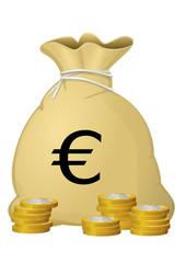 Sac d'euros