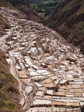 Ancient Salt basins at Maras, Peru poster