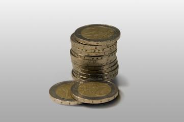 Pile of eurocoins