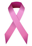 Ruban rose de lutte contre le cancer du sein poster