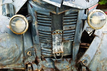 Decaying Old Pickup Truck