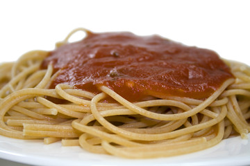 Wholewheat Pasta and Tomato Sauce