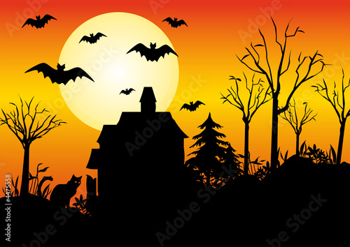 Paysage halloween