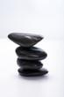 Vier gestapelte Steine