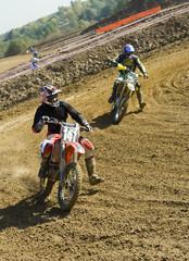 Rider at turning point