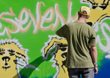 graffiti artist in action poster