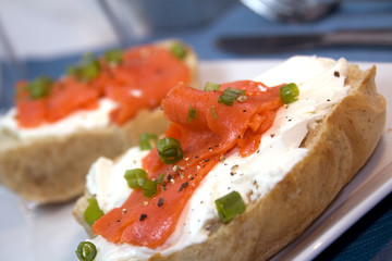 Bagel and Cream Cheese with Lox