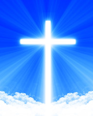 Bright glowing cross