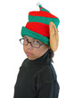 Girl Wearing Elf Hat