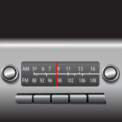 AM FM Car Dashboard Radio