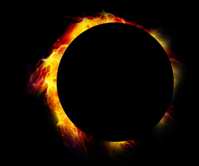 Glowing eclipse