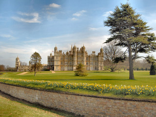 Burghley House in Spring