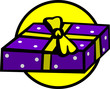 gift with purple wrapping